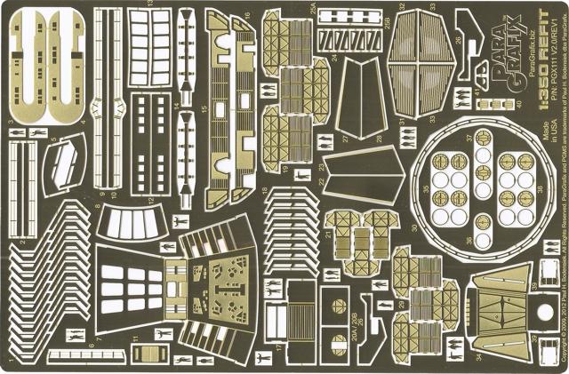 Paragrafix 1//1000 USS Enterprise Refit Battle Damage PE 131 for Polar Lights