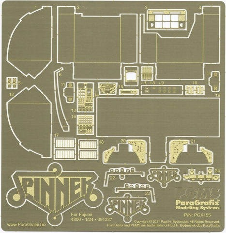 Blade Runner Spinner Photoetch by ParaGrafix