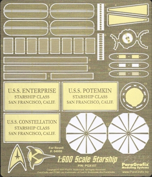 Photoetch for Revell 1:600 scale Enterprise