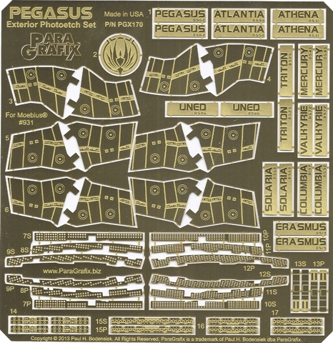 Battlestar Pegasus Exterior Photoetch Set