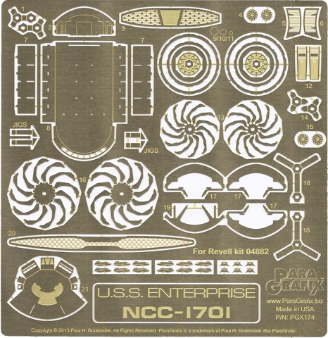 Star Trek (2009) USS Enterprise Photoetch Set
