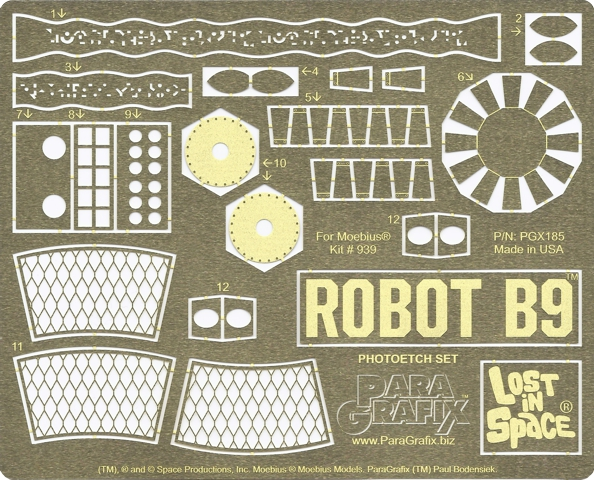 Lost in Space Robot B9 Photoetch
