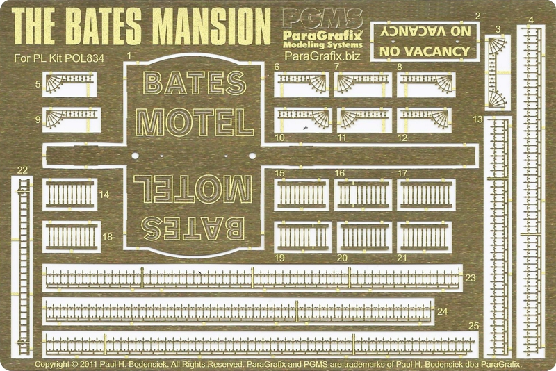 Bates Mansion Photoetch from ParaGrafix