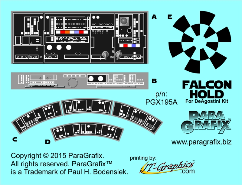DeAgostini Falcon Hold Decals by ParaGrafix