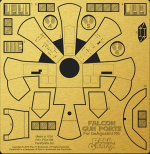 Falcon Gun Ports for DeAgostini Kit