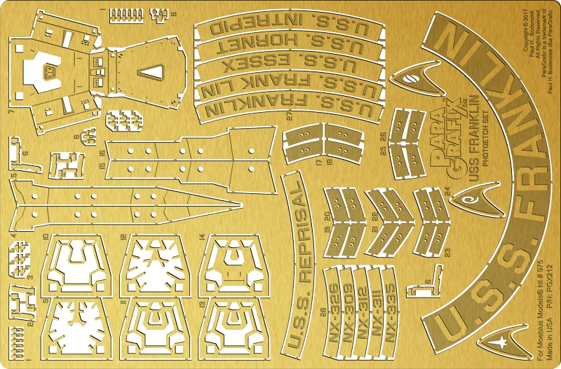 USS Franklin Photoetch Set from ParaGrafix