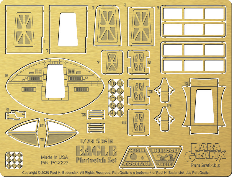 1/72 scale Eagle Photoetch from ParaGrafix